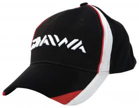 Daiwa Black/White & Red Cap