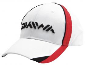 Daiwa White/Red & Black Cap