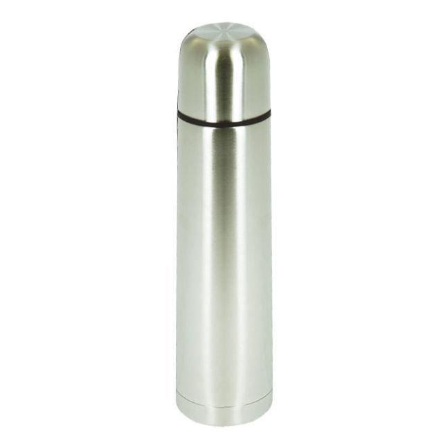 1 litre stainless steal vacuum thermos flask ebay. Black Bedroom Furniture Sets. Home Design Ideas