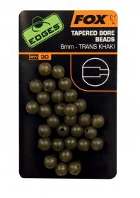 Edges 6mm Tapered Bore Bead Trans Khaki
