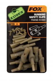 Edges Running Safety Clips Trans Khaki