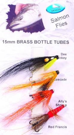 15mm Slim Brass Bottles Salmon Fly Pack