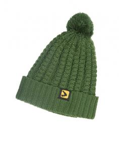 Avid Green Knitted Bobble Hat