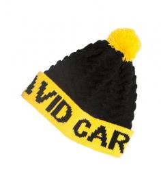 Avid Black & Yellow Knitted Bobble Hat