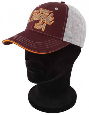 Chunk Grey Burgandy Orange Baseball Cap