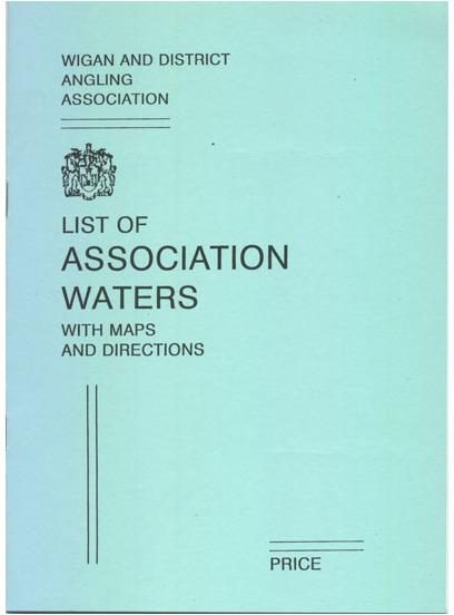 Wigan District Angling Association Map Book Ted Carter