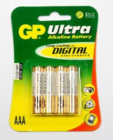 GP AAA 1.5V Alkaline Batteries (Pack of 4)
