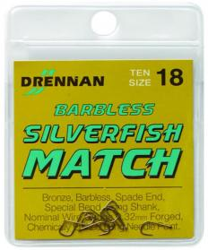 Drennan Barbless Silverfish Match Hooks