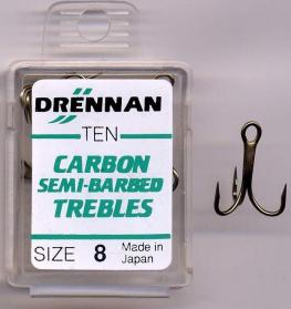 Drennan Carbon Semi-Barbed Trebles
