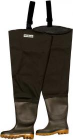 Ocean Deluxe Thigh Waders with Studded Soles