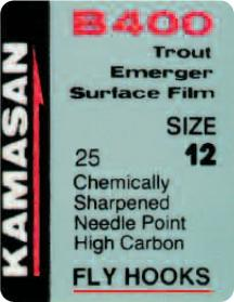 Kamasan B400 Trout Emerger Surface Film Fly Hooks