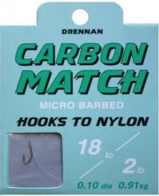 Drennan Hooks to Nylon Micro Barbed Carbon Match