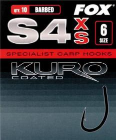 Fox Kuro Coated Hooks S4XS Barbed