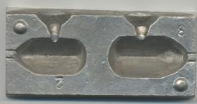 No Frills 2 in 1 Square Pear Lead Moulds