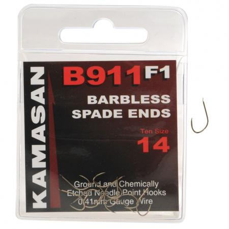 Kamasan B911 F1 Wide Gape Barbless Hooks