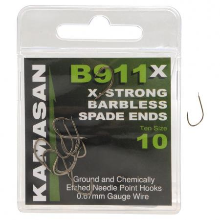 Kamasan B911 Wide Gape X-Strong Barbless Hooks