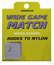 Drennan Wide Gape Match Hooks to Nylon
