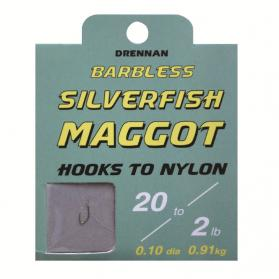 Drennan Barbless Silverfish Maggot Hooks to Nylon