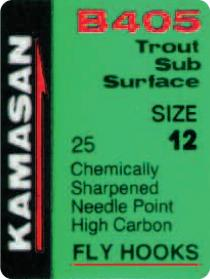 Kamasan B405 Trout Sub Surface Fly Hooks
