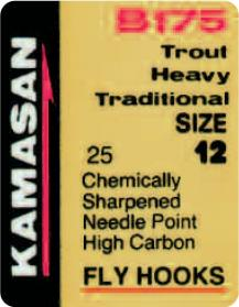 Kamasan B175 Trout Heavy Traditional Fly Hooks