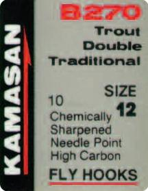 Kamasan B270 Trout Double Traditional Fly Hooks