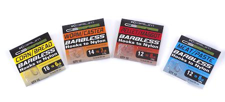 Korum CS Barbless Hooks to Nylon