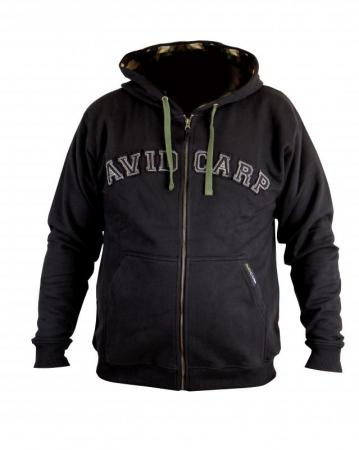 Avid Carp Zip-Up Black Hoodies