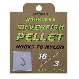 Drennan Silverfish Pellet Barbless Hooks to Nylon