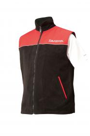Daiwa Fleece Waistcoats Black/Red
