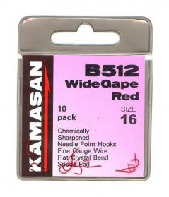 Kamasan B512 Wide Gape Red Hooks