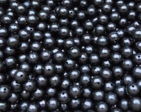 No Frills Black Plastic Rig Beads Bulk Pack
