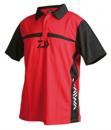 Daiwa Team Polo Shirts Red/Black