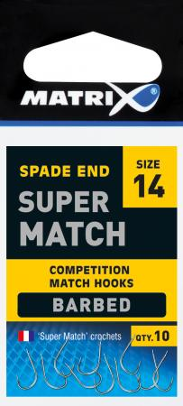 Matrix Super Match Barbed Spade End Hooks