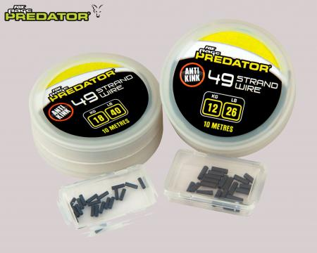 Fox Rage Predator 49 Strand Wire including Crimps