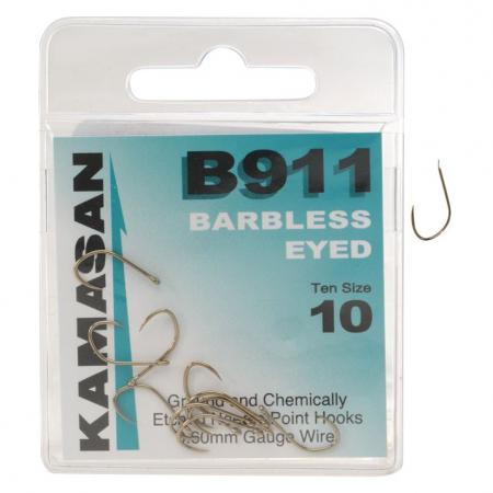 Kamasan B911 Barbless Wide Gape Eyed Hooks