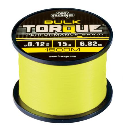 Fox Rage Torque Braid Yellow 1500m Spools