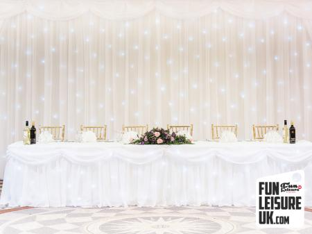 White LED Twinkle Backdrop