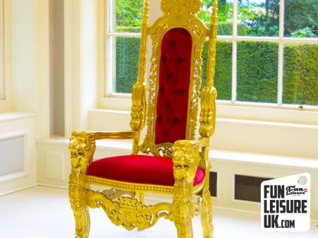 Gold Thrones Pair Hire
