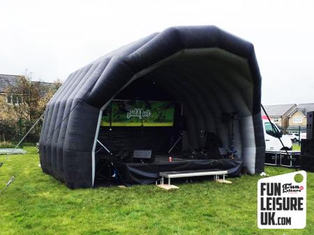 Large Inflatable Festival Stage Cover Hire