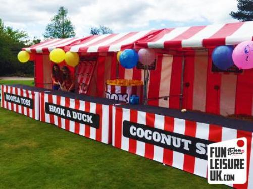 Exhibition Stall Hire : Tin can alley fun fair side stall hire leisure uk