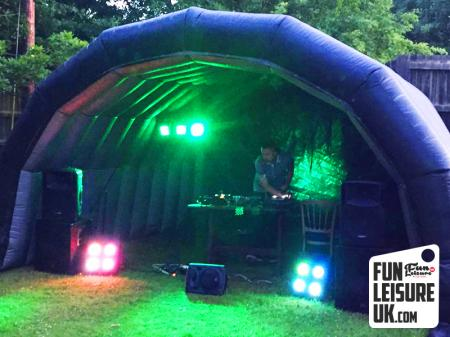 Small Inflatable Festival Stage Cover Hire