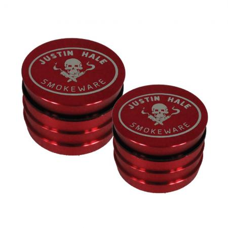 Justin Hale 4-part Grinder Red