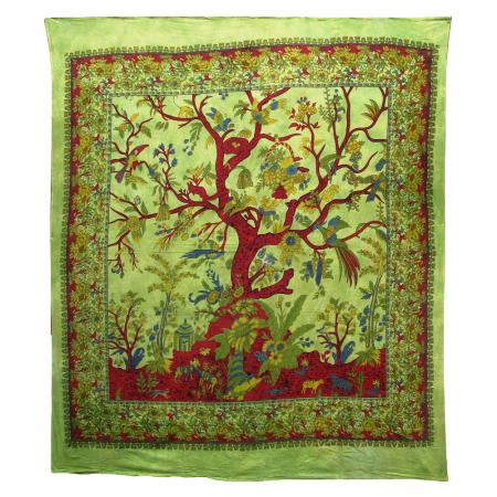 Tree of Life Design Bedcover Double Bed Size
