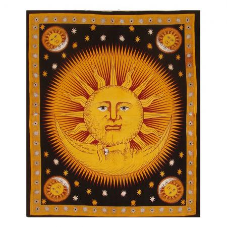 Good Morning Sun Design Bedcover - Double Bed Size