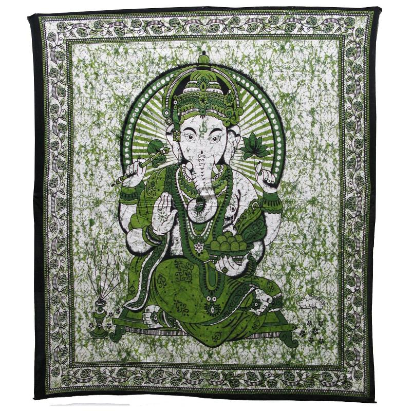 Batik Ganesha Design Bedcover Double Bed Size