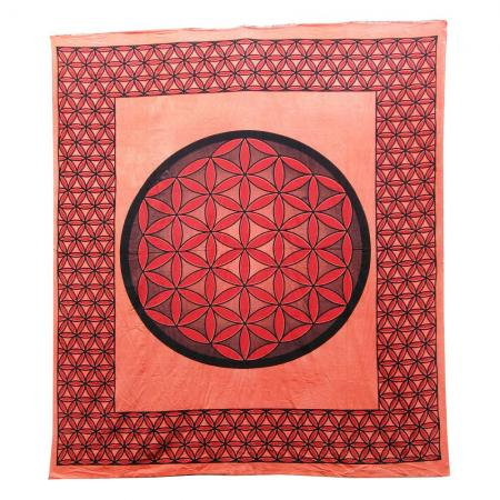 Flower of Life Design Bedcover - Double Bed Size
