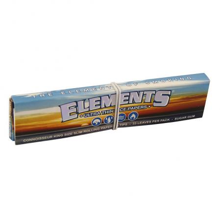 Elements Connoisseur Rice King Rolling Papers and Tips