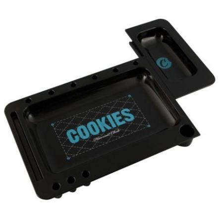 Cookies Harvest Club Fire Resistant Rolling Tray in Red and Black