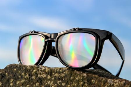 Diffraction Glasses - Rainbow Flip-Lenses