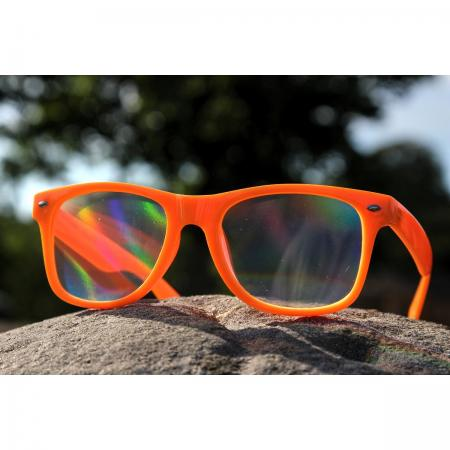 Orange Diffraction Glasses - Rainbow Lenses